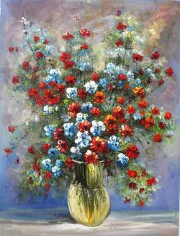 Flower Knife Oil Paintings on Canvas